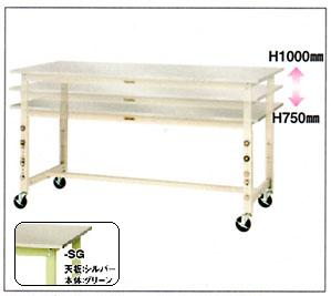 【直送品】 山金工業 ワークテーブル SWS3AC-1890-SG 【法人向け、個人宅配送不可】 【大型】