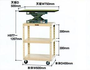 【直送品】 山金工業 ワゴン UD-H750F-GI 【法人向け、個人宅配送不可】 【大型】