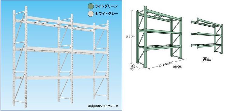 【直送品】 山金工業 パレットラック 1000kg/段 連結 10S362512-3GR 【法人向け、個人宅配送不可】 【送料別】