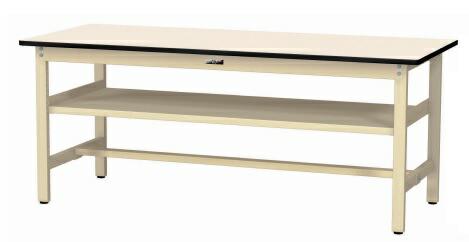 【直送品】 山金工業 ワークテーブル 固定式 中間棚付 SWPH-1875S2-II 【法人向け、個人宅配送不可】 【大型】