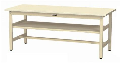 【直送品】 山金工業 ワークテーブル 固定式 中間棚付 SWS-1875S2-II 【法人向け、個人宅配送不可】 【大型】