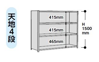 【代引不可】 山金工業 ヤマテック ラック 1.2S5630P-4W 【メーカー直送品】