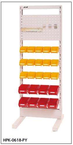 【直送品】 山金工業 パーツハンガー 間口600サイズ 固定式 片面用 HPK-0618-PY 【法人向け、個人宅配送不可】 【大型】