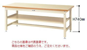 【代引不可】 山金工業 ヤマテック ワークテーブル SSM-1275S2-IG 【メーカー直送品】
