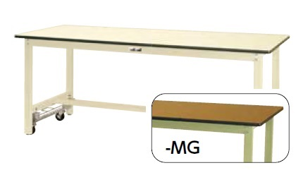 【直送品】 山金工業 ワークテーブル SWPUH-1560-MG 【法人向け、個人宅配送不可】 【大型】
