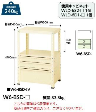 【直送品】 山金工業 ワゴン W6-BSD-G 【法人向け、個人宅配送不可】 【大型】