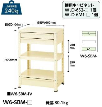 【直送品】 山金工業 ワゴン W6-SBM-IV 【法人向け、個人宅配送不可】 【大型】