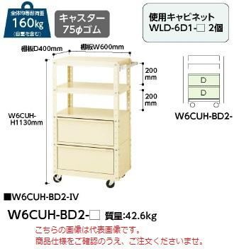 【直送品】 山金工業 ワゴン W6CUH-BD2-G 【法人向け、個人宅配送不可】 【大型】