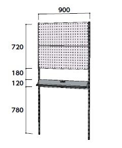 【直送品】 山金工業 ヤマテック 壁紙ハンガーパネルシステム 間口900mm 単体 WH-0918-P2T 【法人向け、個人宅配送不可】