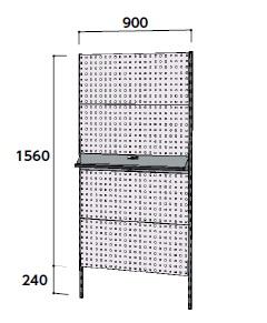 【直送品】 山金工業 ヤマテック 壁紙ハンガーパネルシステム 間口900mm 単体 WH-0918-P4T 【法人向け、個人宅配送不可】