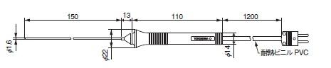 横河計測 TC-K温度プローブ 90021B