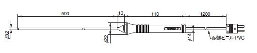 横河計測 TC-K温度プローブ 90022B