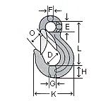 象印 SUS製チェーンスリング アイタイプ構成金具 SHK-13 スリングフック(外れ止め付)