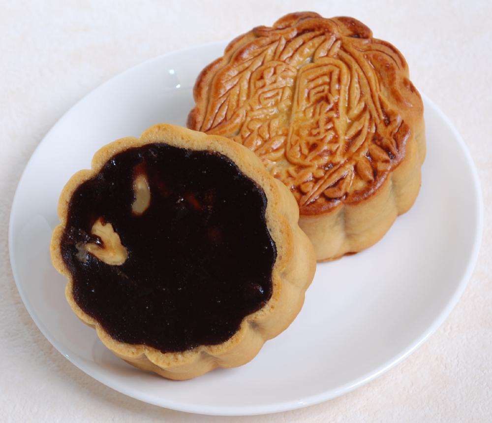 荳沙大月餅-クルミ入り黒あん大月餅-横浜中華街・中華菜館 同發】
