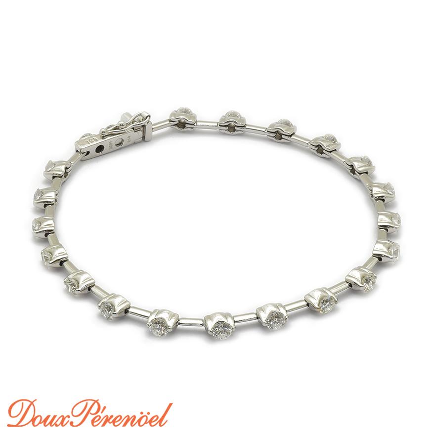【中古】ダイヤモンド ブレスレット K18WG D:2.50 【18金ホワイトゴールド】【レディース】【女性用】