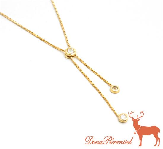 【中古】ダイヤ ネックレス K18YG D:0.30【18金イエローゴールド】【ダイヤモンド】【シンプル】【レディース】【女性】