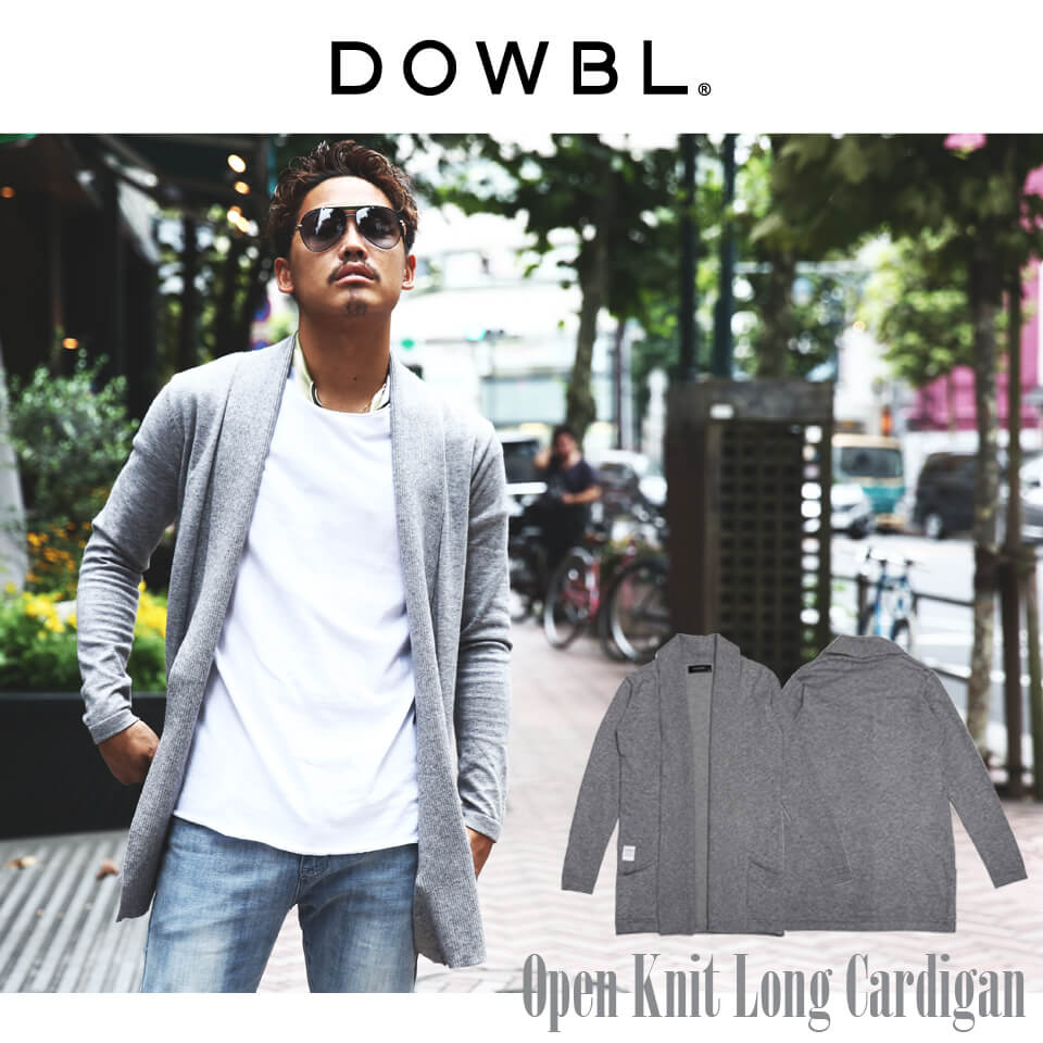 DOWBL/ダブル/Open Knit Long Cardigan【全1色】