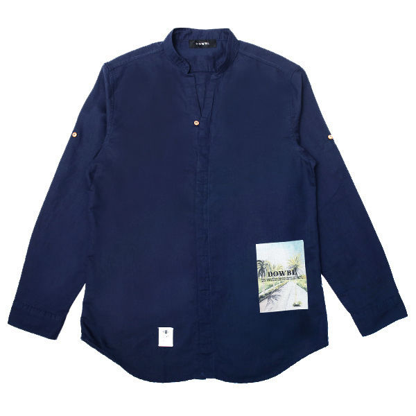 DOWBL/ ダブル/ Stand Color Lokahi Hemp Shirt 【全2色】