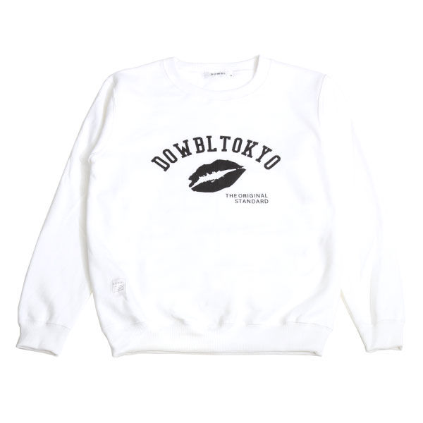 DOWBL/ ダブル/ Kiss Arch Logo Sweat Shirts 【全1色】