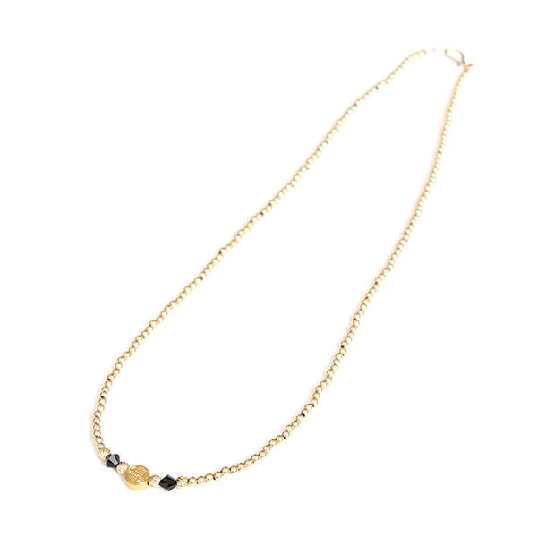 DOWBL/ ダブル/ THE RICH - Black Gold Long Necklace 【全1色】