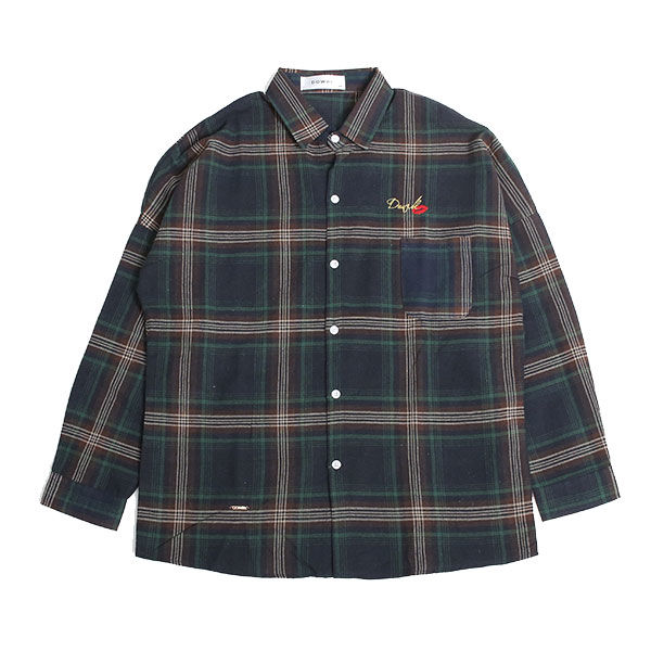 DOWBL/ ダブル/ Kiss Icon Checked Shirt 【全1色】