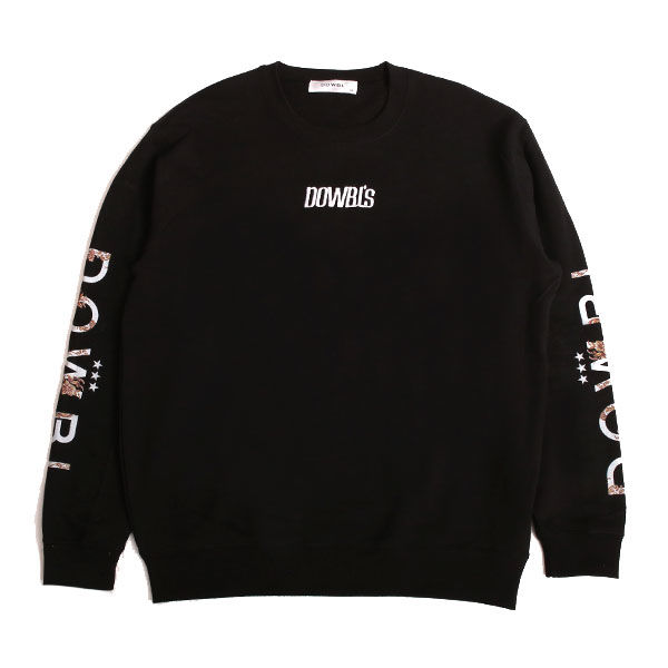 DOWBL/ ダブル/ Sleeve Arabesque Sweat Shirts 【全1色】