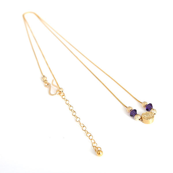 DOWBL/ ダブル/ THE RICH Purple Gold Chain Necklace 【全1色】