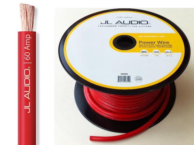 限定 お試し価格 無料 人気商品 JL AUDIO お金を節約 人気の4ゲージ電源ケーブル 切り売り可能 AUDIORPW60A4ゲージ電源ケーブル赤 端子圧着サービス有 スピード発送1mから切り売り可能