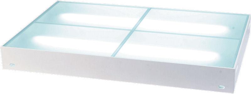 ガラスステージ 什器 商品展示用ディスプレイ台 スモークガラス 140x90cm