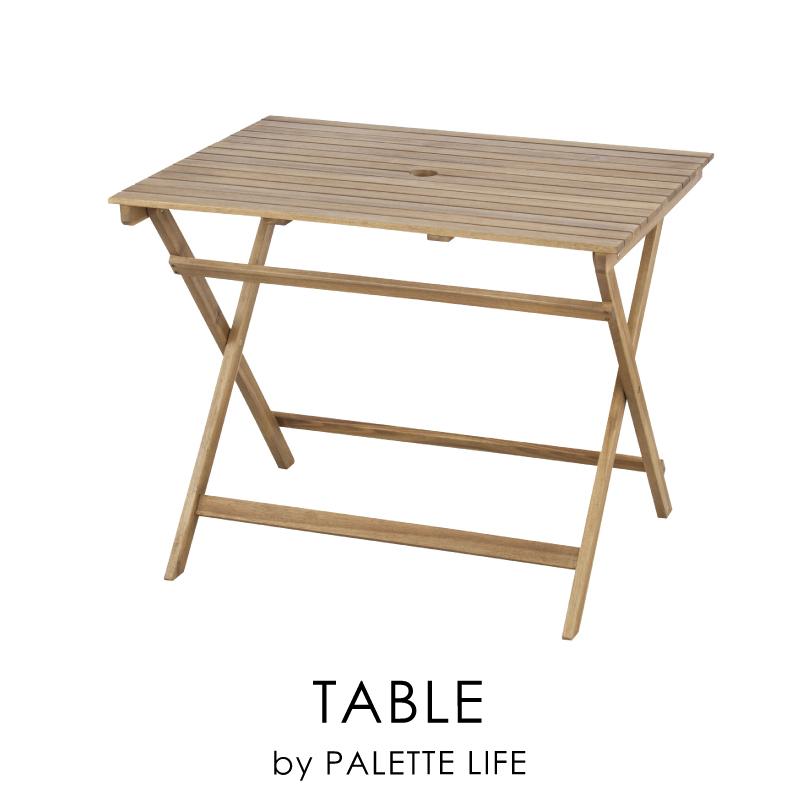 テーブル 折りたたみ アウトドア レジャー ガーデン 机 90cm 木製 お家キャンプ キャンプギア