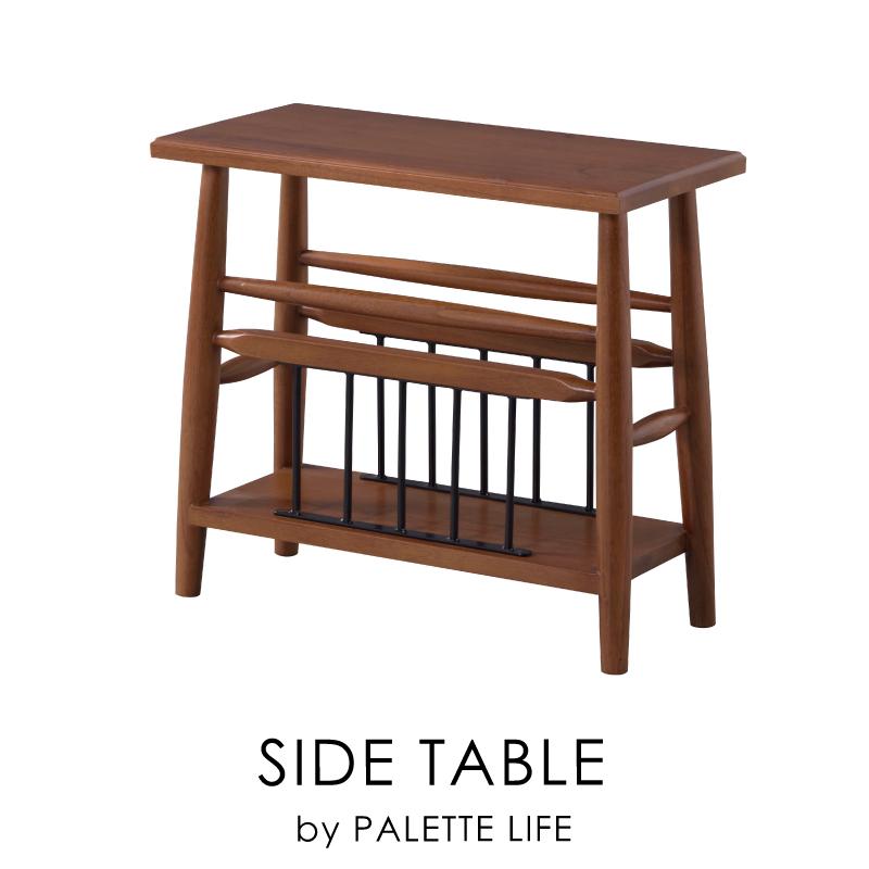 サイドテーブル テーブル 机 ミニテーブル 木製 ブラウン 幅50 北欧 収納 長方形 おしゃれ