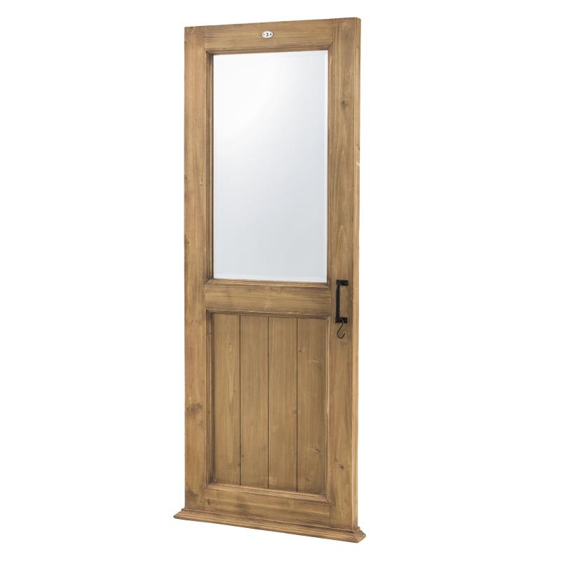 ミラー 鏡 大きい 姿見 飛散防止 天然木製