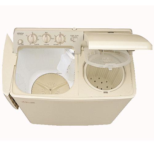 【時間指定不可】【離島配送不可】PS-H45L-CP 2槽式洗濯機 HITACHI 日立 青空 洗濯容量4.5kg/脱水容量5kg PSH45LCP パインベージュ