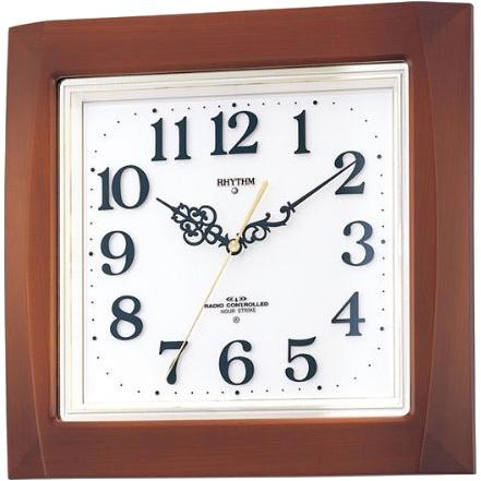 お取り寄せ 4MN468RH06 電波掛時計 リズム時計 ネムリーナM468R 壁掛け時計 電波時計 電波掛け時計 電波掛時計 壁掛時計 かけ時計 壁掛け電波時計 電波壁掛け