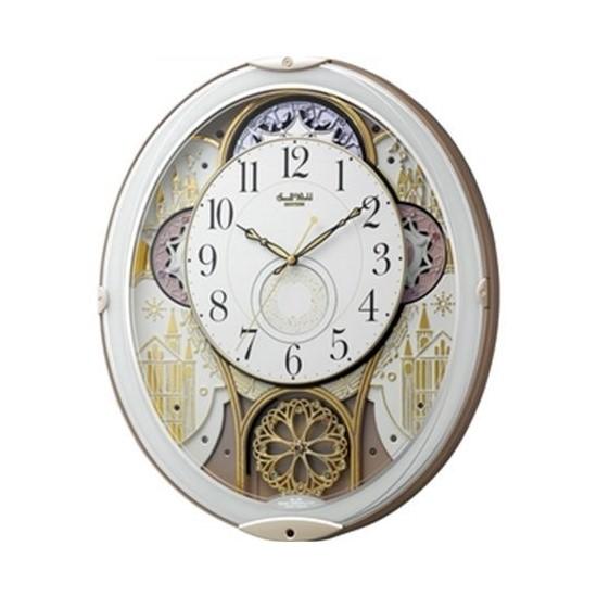 【お取り寄せ】4MN539RH03 掛け時計 リズム時計 スモールワールドノエルN 壁掛け時計 電波時計 電波掛け時計 電波掛時計 壁掛時計 かけ時計 壁掛け電波時計 電波壁掛け