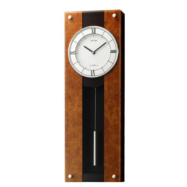 お取り寄せ 4MXA01RH06 掛け時計 振り子時計 リズム時計 モダンライフM01 壁掛け時計 電波時計 電波掛け時計 電波掛時計 壁掛時計 かけ時計 壁掛け電波時計 電波壁掛け