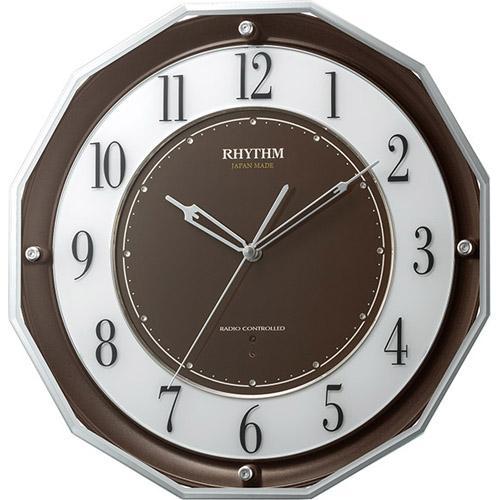 【お取り寄せ】4MY846SR06 電波掛時計 リズム時計 スリーウェイブM846 壁掛け時計 電波時計 電波掛け時計 電波掛時計 壁掛時計 かけ時計 壁掛け電波時計 電波壁掛け