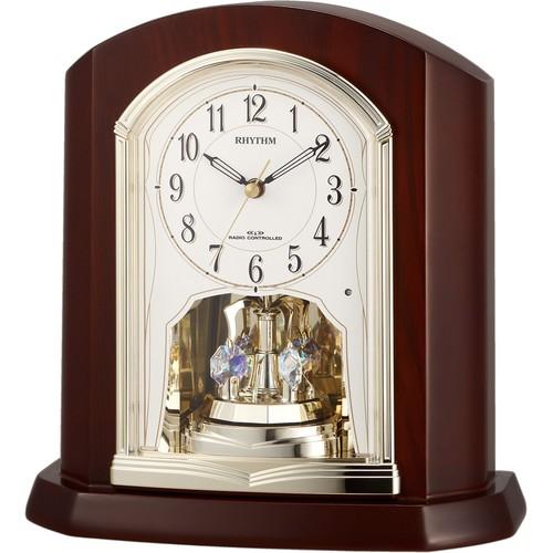 【お取り寄せ】4RY702SR06 電波置時計 リズム時計 パルロワイエR702SR 置き時計 電波時計 電波置き時計 電波置時計 おき時計 卓上時計 卓上電波時計 テーブルクロック デスククロック