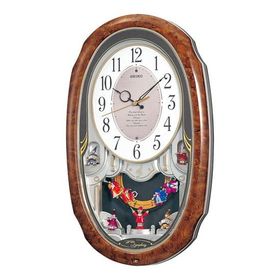 お取り寄せ AM213H SEIKO セイコー 壁掛け時計 電波時計 Wave Symphony ウエーブシンフォニー セイコー時計 からくり時計 電波掛け時計 電波掛時計 壁掛時計 かけ時計 壁掛け電波時計 電波壁掛け時計