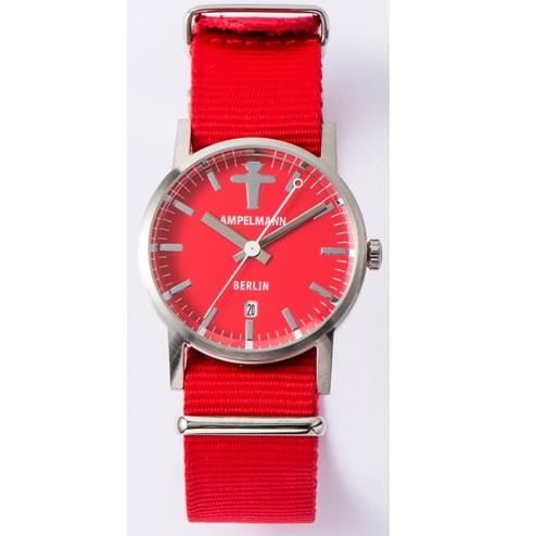 【お取り寄せ】ARI-4976-19 腕時計 AMPELMANN アンペルマン クォーツ ラウンド レッド ARI497619