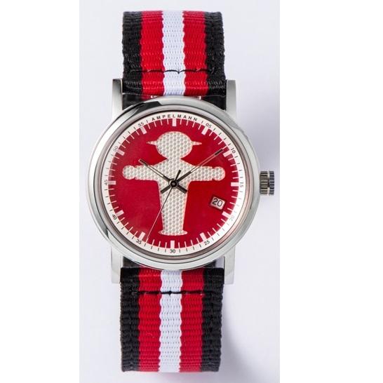 お取り寄せ【北海道・沖縄・離島配送不可】ASC-4972-19 腕時計 AMPELMANN アンペルマン クォーツ ラウンド レッド ASC497219