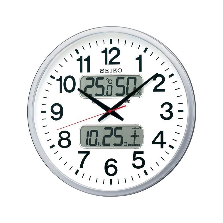 【希少!!】 お取り寄せ KX237S 壁掛け電波時計 電波掛時計 SEIKO セイコー カレンダー セイコー かけ時計、温度・湿度表示つき電波掛時計 壁掛け時計 電波時計 電波掛け時計 電波掛時計 壁掛時計 かけ時計 壁掛け電波時計 電波壁掛け, 健康一番!しあわせ家族:0cbbee1b --- canoncity.azurewebsites.net