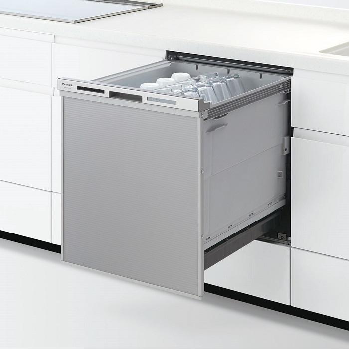 【時間指定不可】【離島配送不可】NP-45MD8S ドアパネル型 ビルトイン食器洗い乾燥機 Panasonic パナソニック M8シリーズ ディープタイプ(幅45cm) NP45MD8S シルバー