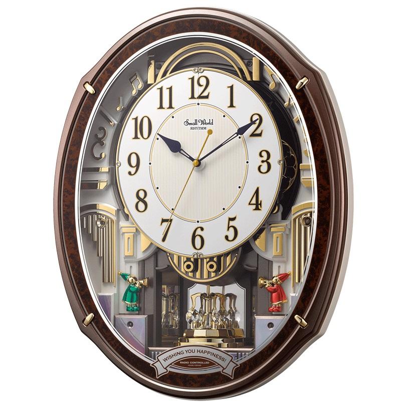 北海道 沖縄 離島配送不可 4MN545RH23 電波からくり時計 リズム時計 スモールワールドアルディ 即納 壁掛け時計 電波掛け時計 本日限定 壁掛時計 壁掛け電波時計 かけ時計 電波壁掛け 電波時計 電波掛時計