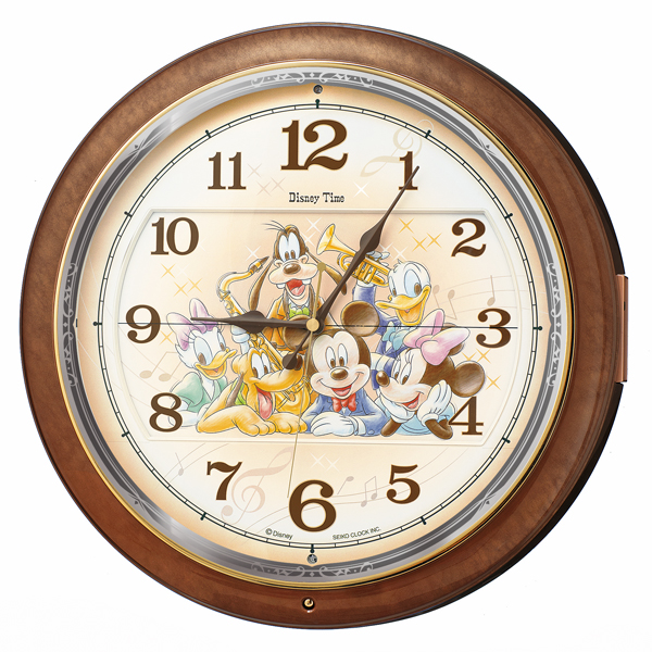 FW587B 壁掛時計 SEIKO セイコー ディズニータイム ミッキー&フレンズ 壁掛け時計 電波時計 電波掛け時計 電波掛時計 壁掛時計 かけ時計 壁掛け電波時計 電波壁掛け