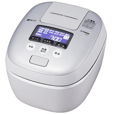 JPC-A101-WH 圧力IH炊飯ジャー プレゼント付き 麦ごはん TIGER タイガー 炊きたて 5.5合炊き JPCA101WH ホワイトグレー