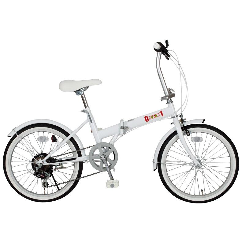 【メーカー直送】【代引不可】【日時指定不可】【北海道・沖縄・離島不可】MG-ZRE206-WH 折りたたみ自転車 ミムゴ ZERO-ONE (ゼロワン) FDB20 6S 20インチ MGZRE206WH ホワイト