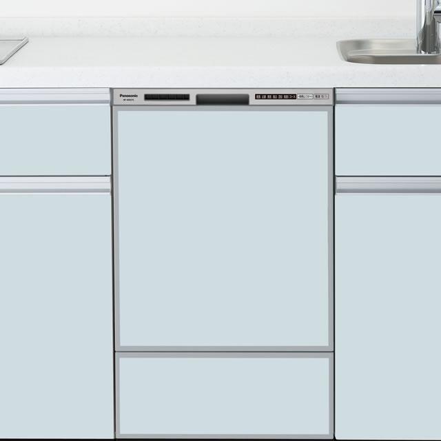 【時間指定不可】【離島配送不可】NP-45RD7S ビルトイン食器洗い乾燥機 Panasonic パナソニック R7シリーズ ディープタイプ(幅45cm) ドアパネル型 NP45RD7S シルバー