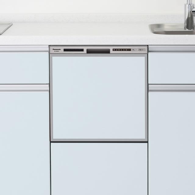 【時間指定不可】【離島配送不可】NP-45RS7S ビルトイン食器洗い乾燥機 Panasonic パナソニック R7シリーズ ミドルタイプ(幅45cm) ドアパネル型 NP45RS7S シルバー