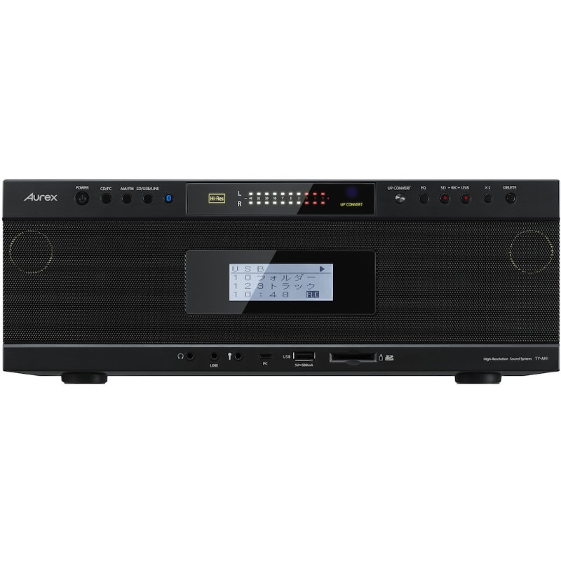 【北海道・沖縄・離島配送不可】TY-AH1-K Bluetooth/SD/USB/CDラジオ TOSHIBA 東芝 Aurex ハイレゾ対応 TYAH1K ブラック